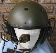 Brazilian Army Tanker Armored Personnel Carrier Crew Commander 1960and039s Helmet