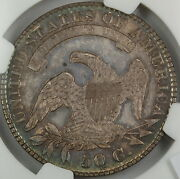 1830 Capped Bust Silver Half Dollar, Ngc Unc Details, Small 0, Choice Bu Coin