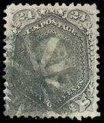 Momen Us Stamps 99 Used F Grill Circle Of Wedges Cancel Xf App.