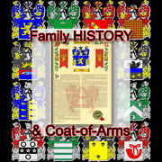 Armorial Name History - Coat Of Arms - Family Crest 11x17 Sandlin-to-sims