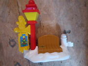 Fisher Price Little People Christmas Tree Lighting Light Pole Bench Fence Snow