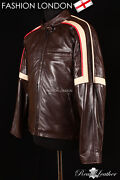 Mens Action Movies Leather Jacket Brown War Of The Worlds Napa Leather Jacket