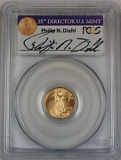 1999-w 5 American Gold Eagle Pcgs Ms-69 Emergency Issue Diehl Signed