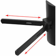 Adjustable Dvd Wall Mount Bracket Vcr Dds Receiver Cable Box Shelf Holder Ma1