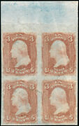 65e Var. 3andcent Rose On Experimental Paper Francis Patent -- Rare -- Hv3735