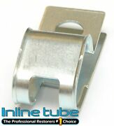 Factory Oem 1/2-3/8 Double R Style No Tab Brake Fuel Line Clamp Clip Galvanized