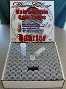 500 Duraclear Quarter Coin Tubes New - 25c Silver/state/national Park Storage