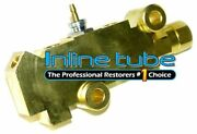 1971-77 Disc 4wd Brake Prop Proportioning Brass Combo Valve Correct Wire Lead