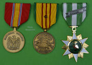 Vietnam Campaign National Defense And Service Medal Set With 1 Battle Star Us