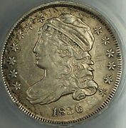 1836 Capped Bust Silver Dime 10c Anacs Au-55 Details Pleasing High Grade Coin