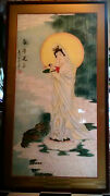 Kuan Yin Or The Goddess Of Mercy Water Color Brush Stroke Painting Asian