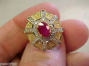 Quality Ruby And Diamond Ring 14k Gold Size 7 Very Pretty Make Offer
