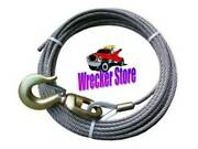 1/2 X 100and039 Iwrc Eips Swivel Hook Wrecker Tow Winch Cable Wire Rope - Steel Core