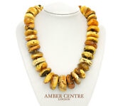 Danish Rare Antique Natural Handmade Amber Bead Necklace A0088 Rrpandpound4900
