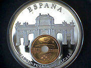 Spain Commemorative Medalion European Currencies Series Coin Inlay M.b