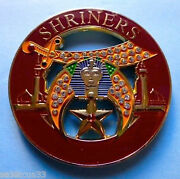 Shriners Cut Out  High Quality With White Stones Car Emblem