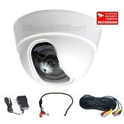 Dome Security Camera W/ Sony Effio Ccd Wide Angle Len 600tvl Audio Mic Cable Cb9