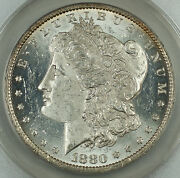 1880-o Morgan Silver Dollar 1, Anacs Ms-60 Details Cleaned, Spl Very Attractive