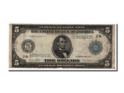 [25408] United States Five Dollars 1914 Km 279a Vf20-25