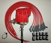 Bbc Chevy 396 427 454 Red Super Cap Hei Distributor And Universal Spark Plug Wires