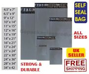 Grey Mailing Postage Poly Postal Bags Mailer Post Parcel Packing Self Seal Bags