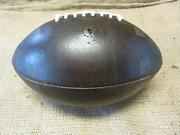 Vintage 1950s Leather Football Antique Ball Reconditioned Rare 8060