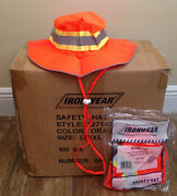 Lot Of 10 Cases 1000/pc Brand New Ironwear Orange Reflective Safety Booney Hats