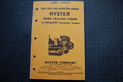 Hyster 98a Yarder Cat Tractor Dozer Crawler Winch Parts Manual Caterpillar D8 D9