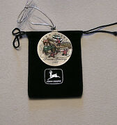 New ---- 1997 John Deere Pewter Christmas Ornament ---- New - 2nd In Series