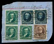 Momen Us Stamps 278 Used Pair And Single On Piece