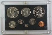 1975 Republic Of Panama Mint State Coin Set With 8 Gem Coins Fineness Error