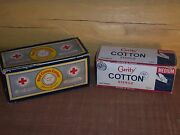 Lot Of 2 Curity - Johnson And Johnson Red Cross Cotton Collect Medical Movie Prop