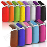 Button Premium Pu Leather Pull Tab Case Cover Pouch For Various Samsung Phones