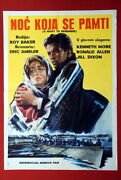 Titanic A Night To Remember Kenneth More 1957 Shipwreck Rare Exyu Movie Poster