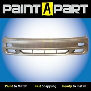 Fits 1992 1993 1994andnbsptoyota Camry Front Bumper Painted 4j1 Almond Beige Metallic