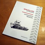 New Holland 907 Speedrower Swather Operatorand039s Owners Book Guide Manual