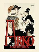 Fashion People Drink Arko Liquor Liqueurs French Vintage Poster Repro Free S/h
