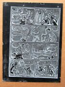 Mickey Mouse And Goofy - 1956 Printing Plate And Page Mickey Mouse 47 Pg 9