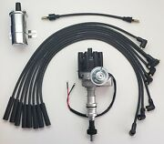 Ford 351c 400 429 460 Black Female Small Hei Distributor + 45k Coil + Plug Wires