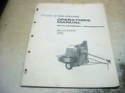 New Holland 25 Silage Filler Blower Corn Hay Owners Operators Manual Chuck Hay