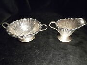 Gorham Sterling Silver Sugar And Creamer Hand Hammered Asthetic 1883 Arts And Crafts