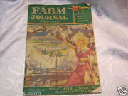 May 1936 Farm Journal Magazine Farming Agriculture Queen Mary Plymouth Car Ad