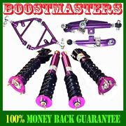 Fits 89-94 240sx S13 Frontandrear Camber Kit And Nonadj Damper Coilover Suspension
