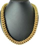 29 Big Woven Link Chain Gold Brass Hip Hop Necklace