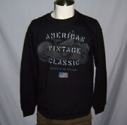 Puritan Vintage Classic Indian Style Motorcycle Menand039s Sweatshirt Size S-m-l Nwt