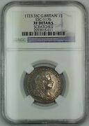 1723 Ssc Britain 1s Shilling Coin Esc-1176 George I Ngc Xf Details Scratches Akr