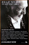Willie Nelson To All The Girls Ltd Ed Discontinued Rare Poster +free Folk Poster