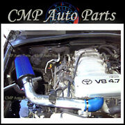 Blue Air Intake Kit Systems Fit 2000-2004 Toyota Tundra / Sequoia 4.7 4.7l