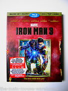 Iron Man 3 Blu-ray 2d 3d Dvd Digital Copy Music And Exclusive Collectible Poster