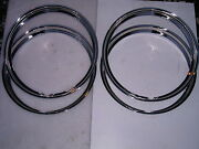 40 41 42 43 44 45 46 47 48 Ford Car Stainless Beauty Rings 15 Inch W/ Ribs New